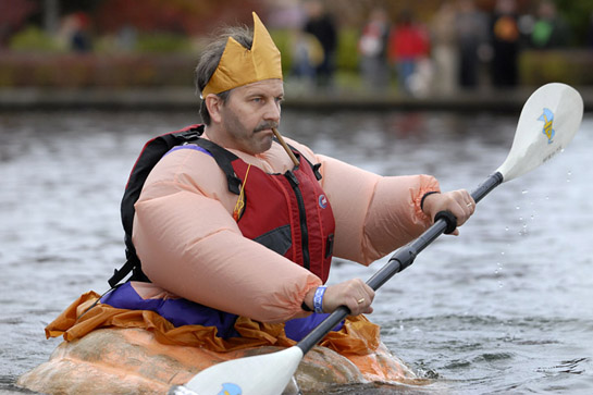Shame was not a consideration when it came to costume selections for the West Coast Giant Pumpkin Regatta.