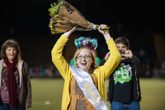 Rex Putnam Senior Veronica Kidby celebrates being selected as Homecoming Queen 2015.